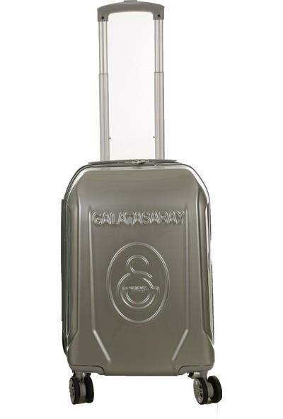 Gs Store Galatasaray Lisanslı Kabin Boy PP Gri Ultra Hafif Valiz 20 Bavul