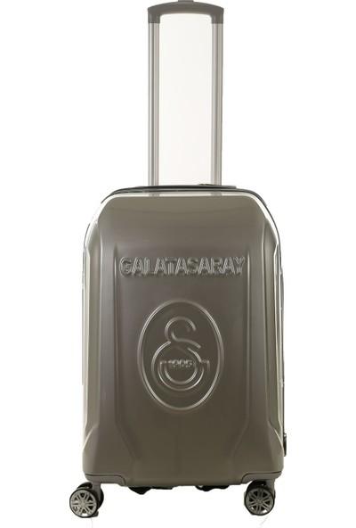 Gs Store Galatasaray Lisanslı Orta Boy PP Gri Ultra Hafif Valiz 20 Bavul