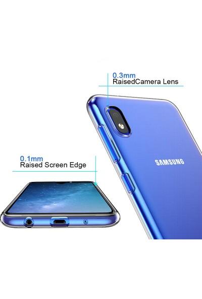 Quse Samsung Galaxy A10 Premium Şeffaf Silikon Kılıf