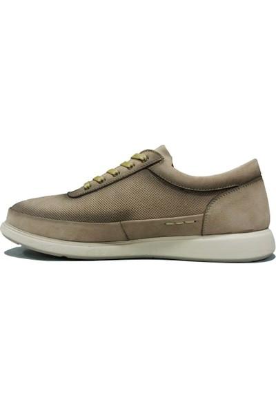 Dropland 5485 Bej Krem Bağcıklı Jelli Anatomik Erkek Ayakkabı