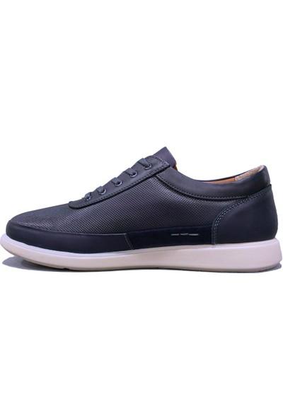 Dropland 5485 Lacivert Bağcıklı Jelli Anatomik Erkek Ayakkabı