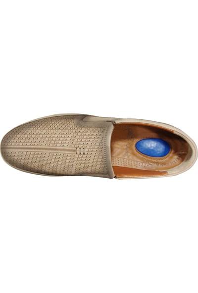 Dropland 5488 Bej Krem Bağcıksız Jelli Anatomik Erkek Ayakkabı