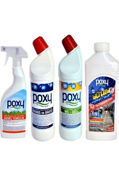 Poxy Tüm Yüzeyler Temizlik Paketi 4 - 3 lt