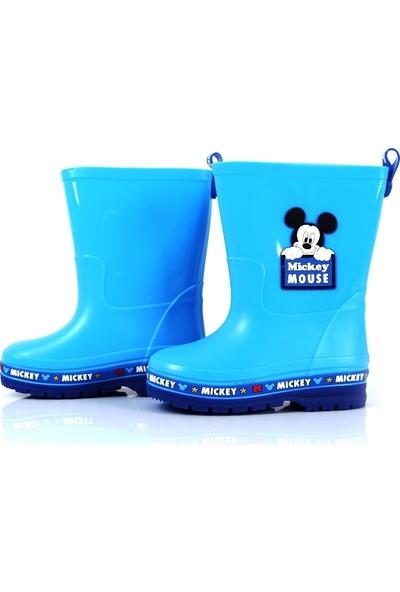 Mickey Mouse Çocuk Botu Çocuk Çizme Erkek Çocuk Botu 27 Numara