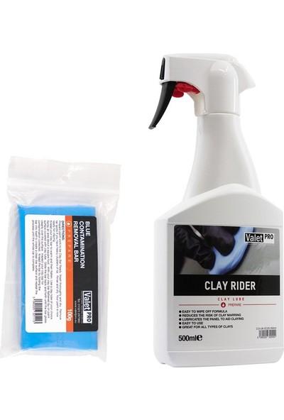 Valet Pro Clay Rider Kil Kaydırıcı ve Mavi Kil Set