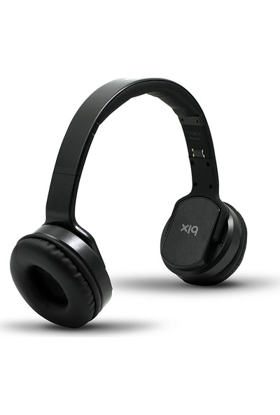 Bix Hoparlör Özellikli SD Kart Girişli Bluetooth Kulaklık - Siyah