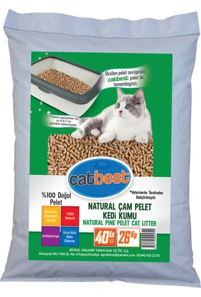 Catbest Cat Pellet Çam Peleti Kedi Kumu 26 kg (40 l)