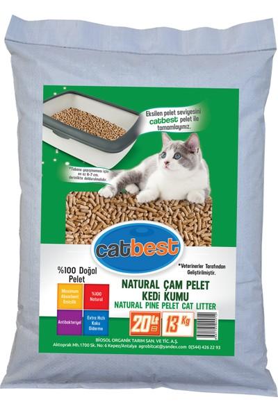 Catbest Cat Pellet Çam Peleti Kedi Kumu 13 kg = 20 l