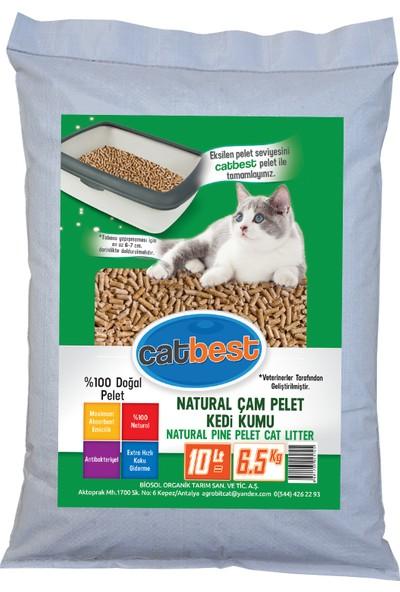 Catbest Cat Pellet Çam Peleti Kedi Kumu 6,5 kg = 10 l ( Pelet )
