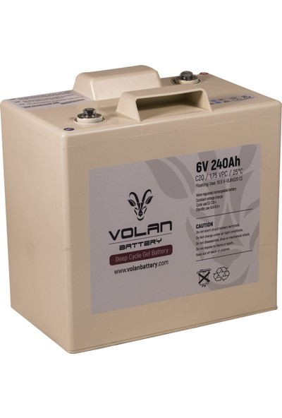 Volan Battery 6 Volt 240 Ah (Amper) Marin Jel Akü