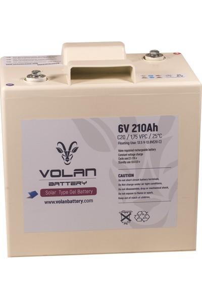 Volan Battery 6 Volt 210 Ah (Amper) Marin Jel Akü