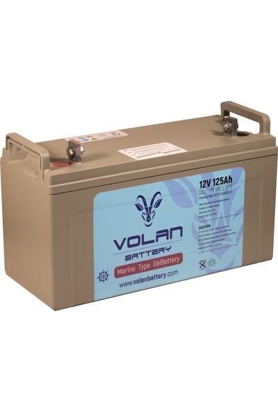 Volan Battery 12 Volt 125 Ah (Amper) Marin Jel Akü