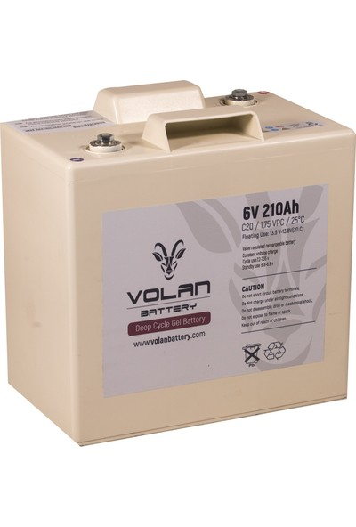Volan Battery 6 Volt 210 Ah (Amper) Deepcycle Akü