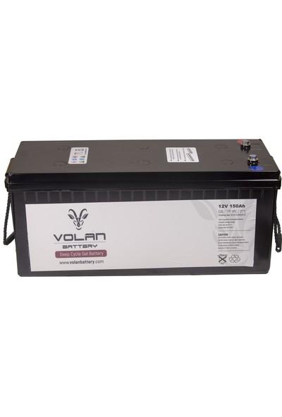 Volan Battery 12 Volt 150 Ah (Amper) Deepcycle Akü