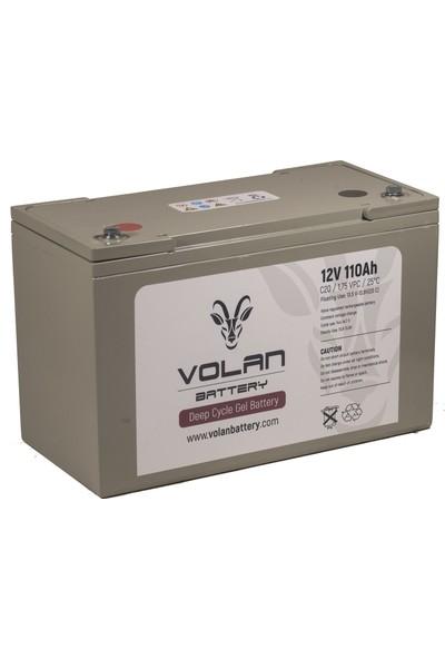 Volan Battery 12 Volt 110 Ah (Amper) Deepcycle Akü
