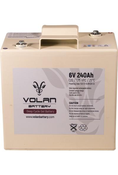 Volan Battery 6 Volt 240 Ah (Amper) Jel Akü