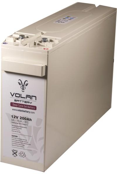 Volan Battery 12 Volt 200 Ah (Amper) Jel Akü