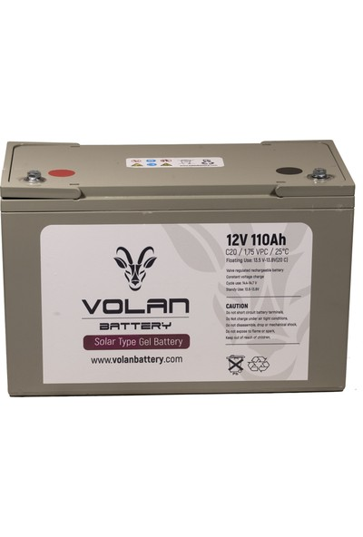 Volan Battery 12 Volt 110 Ah (Amper) Jel Akü