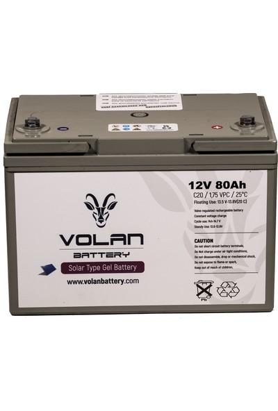 Volan Battery 12 Volt 80 Ah (Amper) Jel Akü
