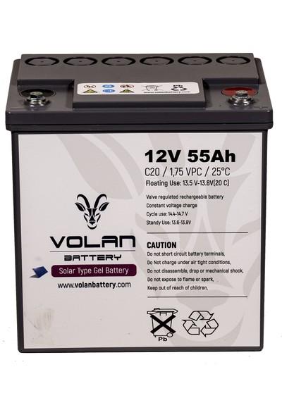 Volan Battery 12 Volt 55 Ah (Amper) Jel Akü