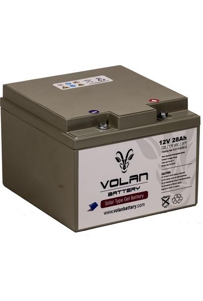 Volan Battery 12 Volt 28 Ah (Amper) Jel Akü