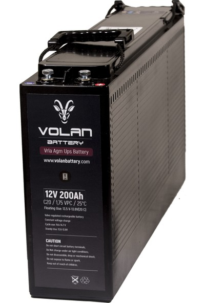 Volan Battery 12 Volt 200 Ah (Amper) Kuru Akü