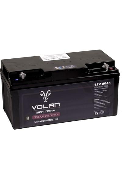 Volan Battery 12 Volt 80 Ah (Amper) Kuru Akü