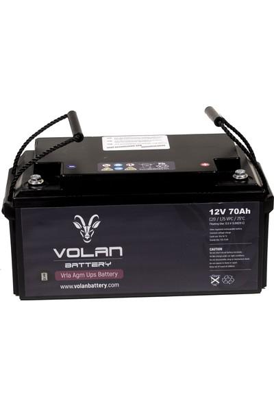 Volan Battery 12 Volt 70 Ah (Amper) Kuru Akü