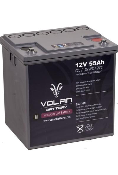 Volan Battery 12 Volt 55 Ah (Amper) Kuru Akü