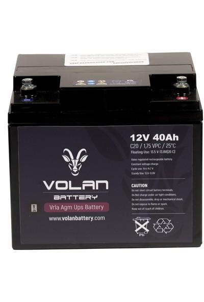 Volan Battery 12 Volt 40 Ah (Amper) Kuru Akü