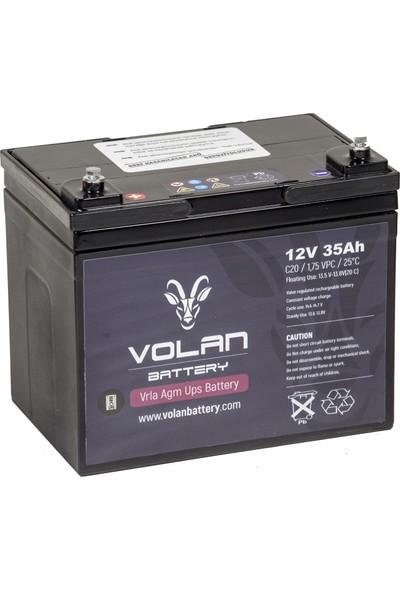 Volan Battery 12 Volt 35 Ah (Amper) Kuru Akü