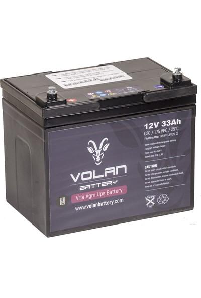 Volan Battery 12 Volt 33 Ah (Amper) Kuru Akü