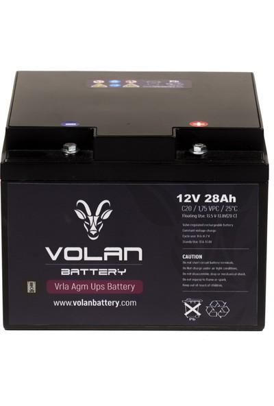 Volan Battery 12 Volt 28 Ah (Amper) Kuru Akü