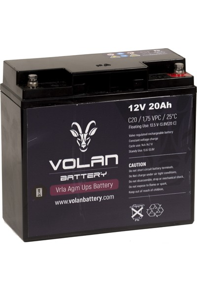 Volan Battery 12 Volt 20 Ah (Amper) Kuru Akü