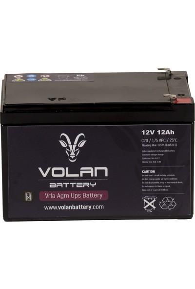 Volan Battery 12 Volt 12 Ah (Amper) Kuru Akü