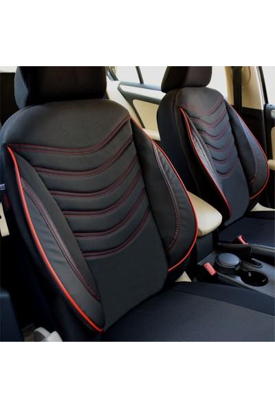 Akhan Tuning Dacia Duster Uyumlu Ortopedik Oto Koltuk Kılıfı Siyah Kırmızı