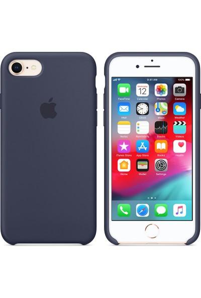 İnova Apple iPhone 7 İnce Silikon Kauçuk Kılıf Arka Kapak - Lacivert