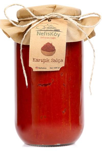 NefisKöy Doğal Katkısız Domates Biber Karışık Salça 1 kg