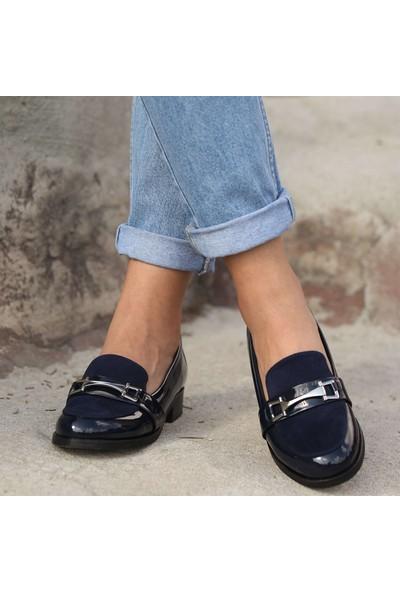 Mio Gusto Bernice Lacivert Loafer Ayakkabı