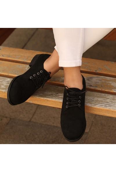 Mio Gusto Berta Siyah Oxford Ayakkabı