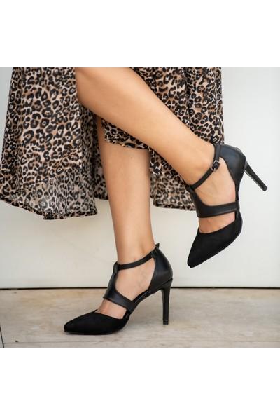 Mio Gusto Elsa Siyah Topuklu Ayakkabı