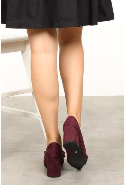 Mio Gusto Liz Bordo Fiyonklu Ayakkabı