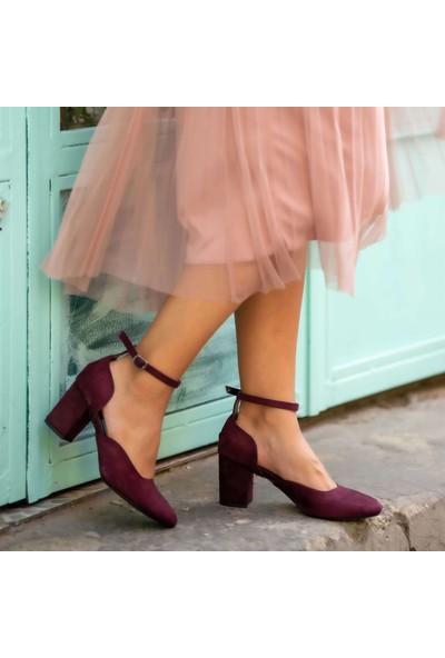 Mio Gusto Shania Bordo Topuklu Ayakkabı