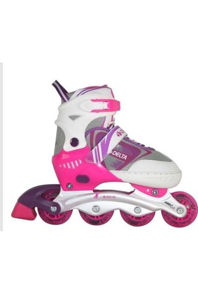 Delta Inline Skate Silikon Teker Ayarlanabilir Alüminyum Paten