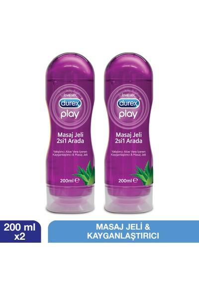 Durex Play Aloe Vera Masaj Jeli Ve Kayganlaştırıcı 200 Ml 2 Adet