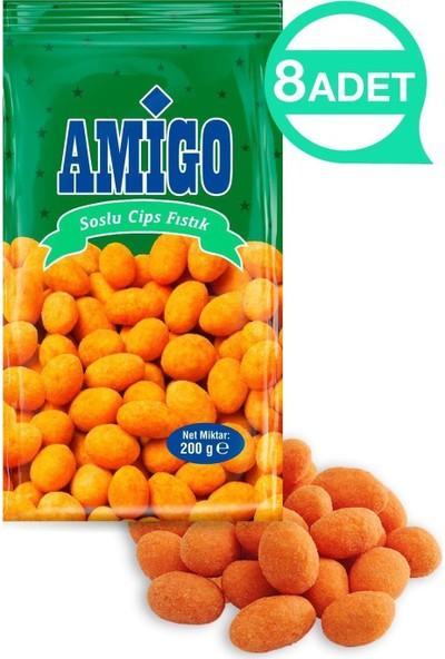 Amigo Soslu Cips Fıstık 8 Adet 150 gr