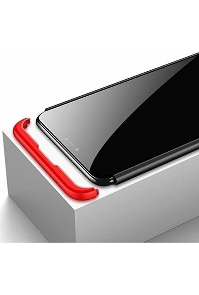 Magazabu Xiaomi Mi 8 Lite Kılıf 3 Parça 360 Ays Kapak + Cam Ekran Koruyucu Gold