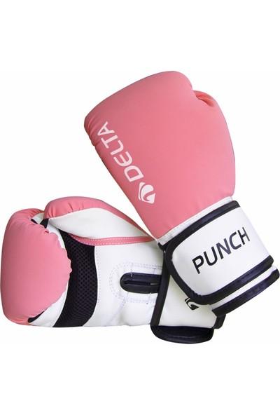 Delta Punch Dura-Strong Pembe-Beyaz Boks Eldiveni