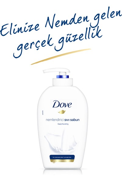 Dove Deeply Nourishing Nemlendirici Sıvı Sabun 500 ml + Pouch 500 ml