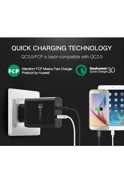 Ugreen Qualcomm QC 3.0 Çift USB Çıkışlı 30W Hızlı Şarj Cihazı